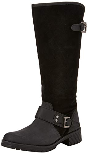 Joe Browns Damen Rider Premium Leather Boots Langschaftstiefel, Schwarz (Black B), 39 EU