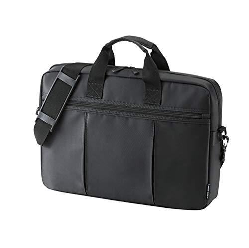 15,6-Zoll-Laptop-Kuriertasche Multifunktionale Aktentasche Handtasche Mit Mehreren Fächern Mit Schultergurt Für Macbook/Acer/HP/Dell Alienware/Lenovo,Black-14