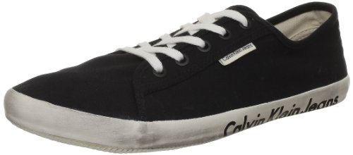 Calvin Klein Jeans Fallon Canvas, Baskets mode homme Noir (Blk)