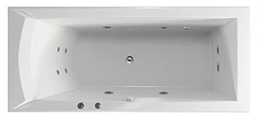 Whirlpool Wasser, Whirlpool Badewanne Hydro, MASSAGE WHISPER FLAT – Whirlpool für Wellness und Entspannung – für fast alle Wanne