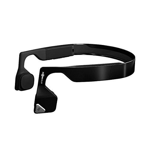 Aftershokz Bluez 2S Bone Conduction Cuffie Audio Bluetooth a Conduzione Ossea per Attività Sportiva, con Microfono, Verde Metallico