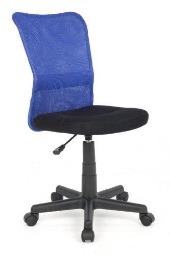 SixBros. Bürostuhl Drehstuhl Schreibtischstuhl Blau/Schwarz H-298F/1327