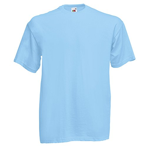 Fruit of the Loom Herren Modern T-Shirt Gr. X-Large, himmelblau (T-shirt Awesome Soccer)