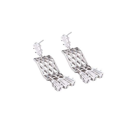 Beydodo Silber 925 Damen Ohrringe Hängend Quaste Kristall Silber Ohrringe für Mutter/Freundin/Braut