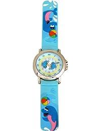 Trendy Kiddy - KL75 - Montre Mixte - Quartz Analogique - Cadran Multicolore - Bracelet Plastique Bleu