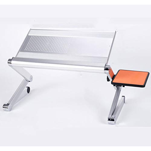Table Pliante Table portative Pliante en Aluminium pour Ordinateur Portable (Color : Silver)