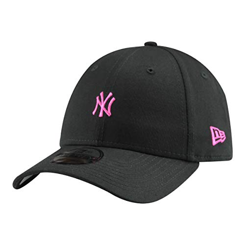 New Era 9Forty Unisex Damen Herren MLB League Essential/Brand Logo 940 Adjustable Cap Strapback Cap Baseball Cap mit 7kmh Aufkleber, OSFM, B1 NY Schwarz 8042