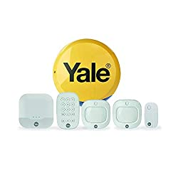 Yale IA-320 Sync Smart Home Alarm, works with Alexa, Google & Philips Hue. 6-piece kit, Self-Monitored, Geofencing, 200m range, integrates with Yale Smart Locks