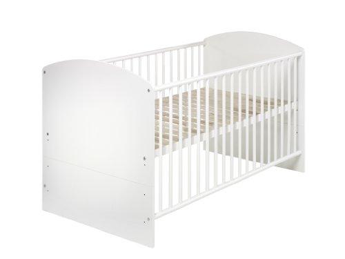 Schardt 04 497 02 02 - Kombi-Kinderbett Classic-Line weiss 70x140 cm, inklusive Umbaukit zum Kinderbett