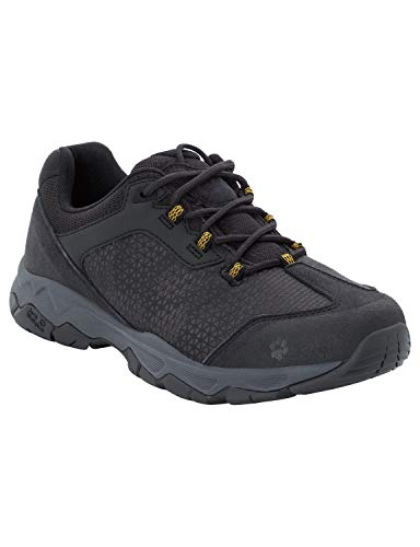 Jack Wolfskin Herren Rock Hunter Low Trekking- & Wanderhalbschuhe, Schwarz (Burly Yellow Xt 3802), 45 EU