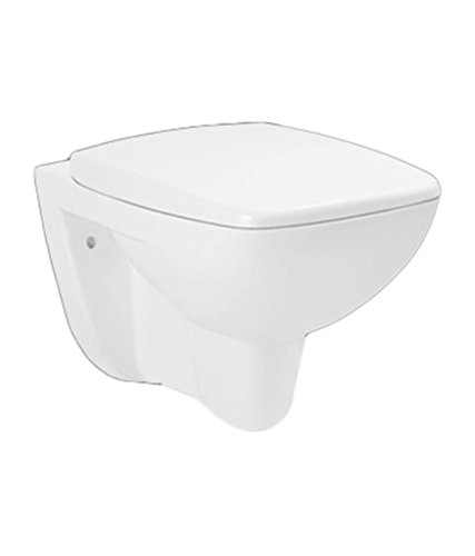 Hindware Enigma 92502 Ceramic Slim Wall Mounted Water Closet( White ,Two Pieces)