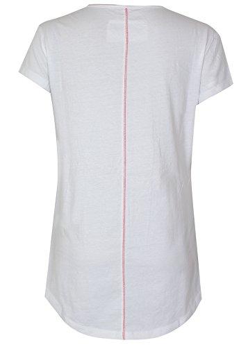 trueprodigy casuale donna magliette motivo stampa, abbigliamento urban moda girocollo (manica corta & slim fit classic), top blusa moda vestiti colore: bianco 1063145-8005 Offwhite