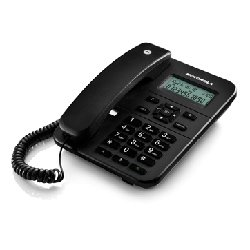 Motorola CT202 Corded Phone With Caller ID & Two Way Speaker - Black