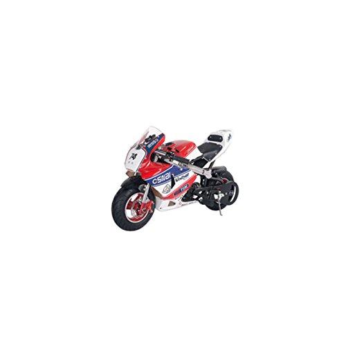 Details zu Pocketbike Dirtbike Pocket Cross Bike Crossbike Dirt 49 Kindermotorrad Neuheit ! (Rot-Weiß-Schwarz)