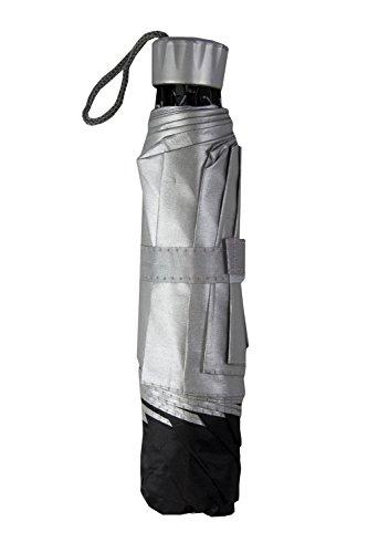 Taschenschirm /Regenschirm Economy, schwarz/silber