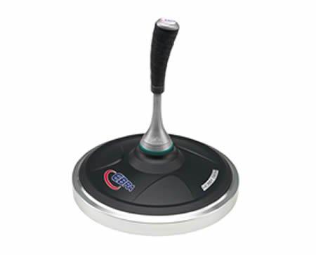EBRA Hobby Eisstock Set 3,8 kg (schwarz), Kompaktstiel, Winterlaufplatte schwarz (schnell)