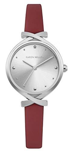 Karen Millen Reloj Analógico para Unisex Adultos de Cuarzo con Correa en Cuero KM173R