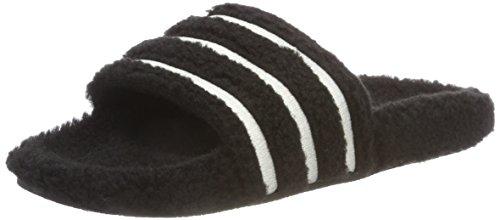 Adidas adilette w scarpe da spiaggia e piscina donna,nero (negbás / blatiz / negbás 000), 39 eu