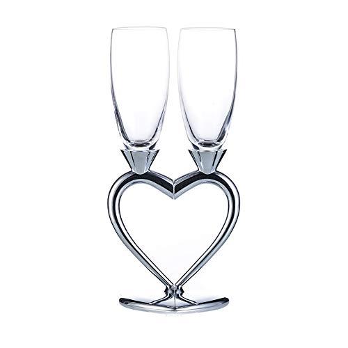 Coupe de Champagne Créative Coupe de Vin Rouge Haut de Gamme Verre À Pied Paire de Coupe de Cadeau de Mariage En Forme de Coeur