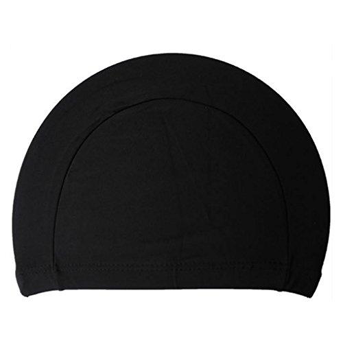 Nowear Unisex-Polyester-Tuch-Gewebe-Badekappen-Schwimmen-Hüte für Wassersport