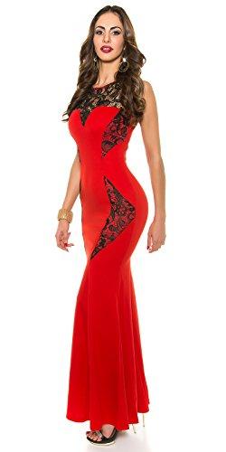 Red Carpet Look! Abendkleid mit Stickerei Rot
