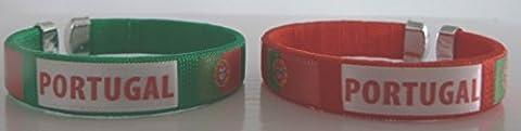 LOT DE 2 BRACELETS ROUGE + VERT PORTUGAL - BIJOUX - PORTUGAL