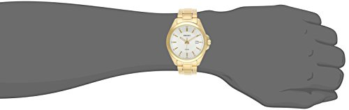Seiko Mens Gold Plated 100 Metre WR Date Watch SUR064P1
