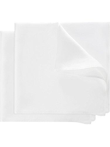 2 Pezzi Fazzoletti di Pura Seta Tessuti da Uomini Tasca Piazze 13.8 per 13.8 Pollici con Scatola di Regalo per gli Uomini di Matrimonio Tuxedo