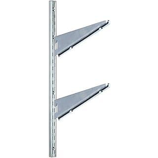Shelf Brackets 2Hooks Art 2770cm 40ZINC PACK OF 10