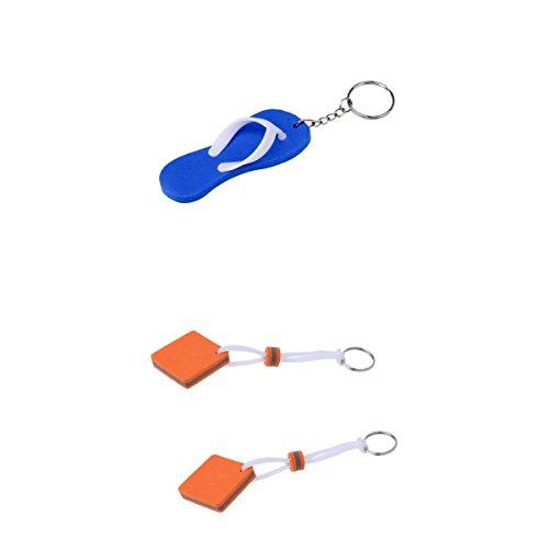 Homyl 3 Unidades de Llavero Flotante Accesorio de Deportes de Acuaticó de Goma Multiusos