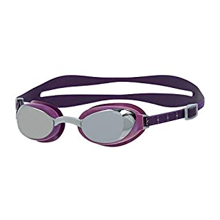 Speedo Women's Aquapure Mirror Female Goggles, Bramble/Silver/Chrome, One Size