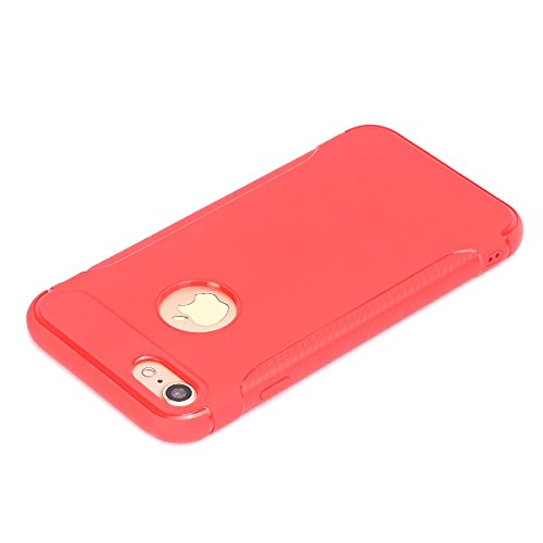 iPhone6/6S Coque,EVERGREENBUYING Ultra Slim léger Etui IPHONE 6 Cases Housse Premium Anti-rayure & TPU doux Antiglisse Cover pour iPhone 6 / 6S Rouge Rouge