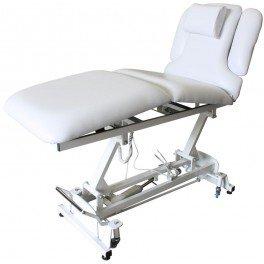 elektrische Luxus-Fußpflegeliege, Massageliege, mit Neigungs- und Beinteilverstellung Farbe weiß