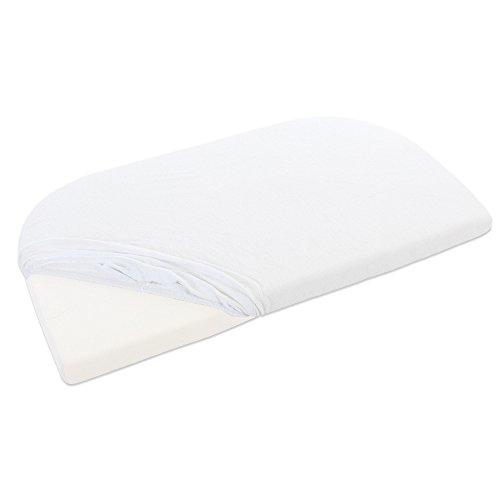 babybay Frottee Spannbetttuch mit Membran für Maxi, Midi, Mini, Boxspring, Trend und Comfort, weiß