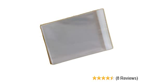 30mm Flap Small Cello 30 Micron 100mm x 100mm Century 100 Cello Pack of 500 Cellophane Display Bags Self Seal