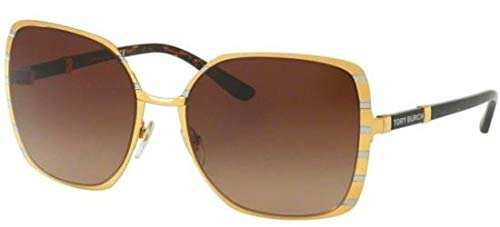 Tory Burch Sonnenbrillen TY 6055 Gold/Brown Shaded Damenbrillen (Sonnenbrille Burch Tory)