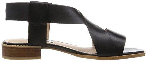 Clarks Bliss Meadow, Sandales Bride arrière femme Noir (Black Leather)