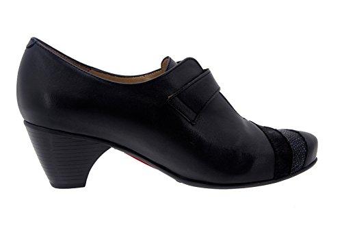 Chaussure femme confort en cuir Piesanto 7406 casual comfortables amples Noir