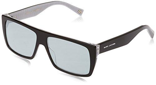 Marc Jacobs Unisex-Erwachsene MARC ICON 096/S T4 M4P 57 Sonnenbrille, Black Stripe/Gy Grey,
