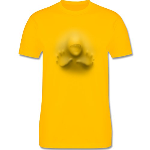 Karneval & Fasching - Höllengeburt - Herren Premium T-Shirt Gelb