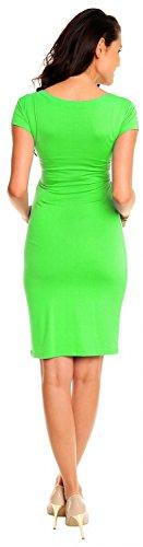 Zeta Ville Femmes Grossesse Maternité été Désinvolte étendue Crayon Robe 573c Vert