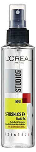 Loreal Haar Styling (L'Oréal Paris Studio Line Spurenlos FX Liquid Gel 24h, Haar-Gel zum Sprühen, Styling-Spray für ultra starken Halt, 6 x 150 ml)