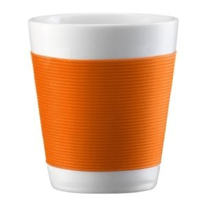 Bodum Kantine 2 Tassen, doppelwandig, klein, 0,1 l, 3 Unzen, Porzellan Orange - 10108-106 Bodum - UK IMPORT (2 Unzen Tassen)