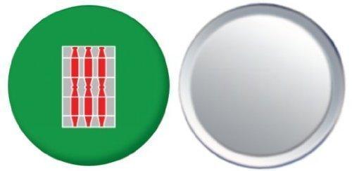 Miroir insigne de bouton Italie Umbria drapeau - 58mm