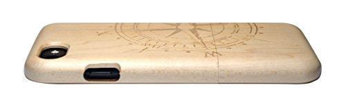 SunSmart iPhone 7 Handy Cover aus Holz für iPhone 7 mit 4,7-Zoll-Display - echtes Sandelholz -14 4.7''-7G-19
