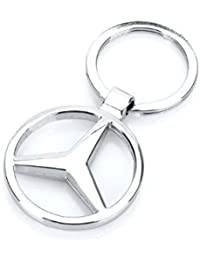 SLN Benz Keychain Mercedes-Benz Logo Silver Metal Keychain Keyring For Cars Bike Bags Handbags Gift Collectible