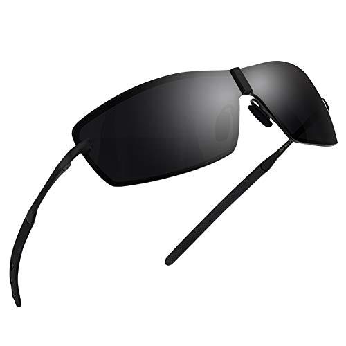 NWOUIIAY Sport Sonnenbrille Herren Polarisiert sonnenbrille mit Frühlings Scharnieren 100{711bde6eb9fbdf6f33f7d1ce64245962becbb73c7b4c5e9b85c4b45e6473a832} UV400 Schutz für Autofahren Reisen Golf Party und Freizeit, Brillen trends 2018