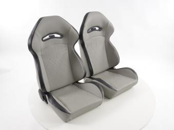 Coppia sedili sportivi grigio simil pelle 4053029592274 universali