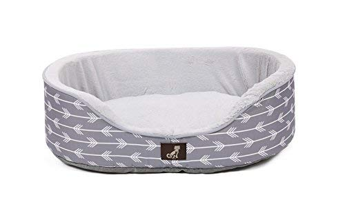 All-Pet-Solutions-Bella-Collection-of-Warm-Luxury-Dog-Bed-with-Reversible-Cushion-Washable