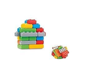 Marioinex 902073 Bloques de construcción Junior Bricks, 25 Piezas en Red